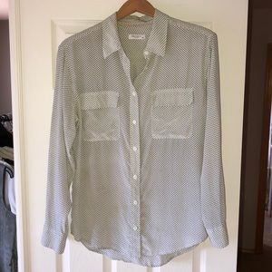 Equipment Silk Button Down Shirt Blouse